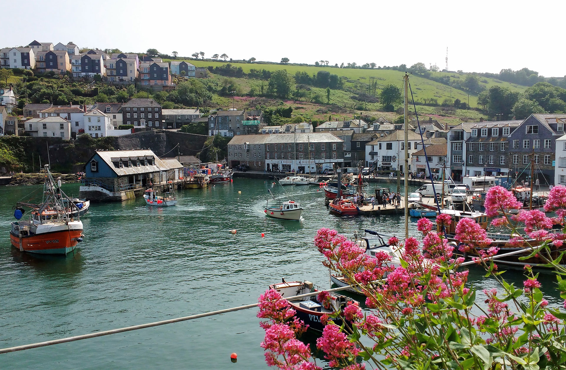 mevagissey near st austell and not far from Edens Yard Backpackers